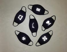 Funny masks with reflective pattern. Discount