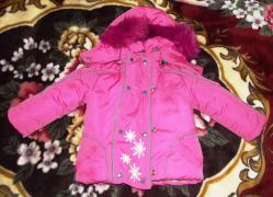 Комбинезон с курточкой зимний детский