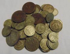 Монеты СССР 61 монета одним лотом